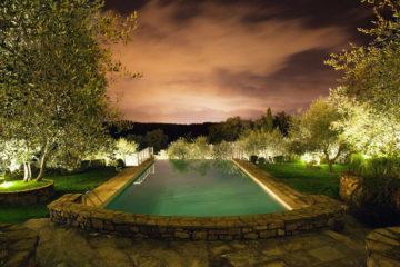 Piscina con vista a Villa La Borghetta